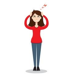 Headache attack Head pain vector image vector image