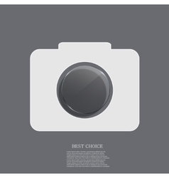 modern camera icon with circle glass vector image vector image