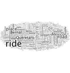 A great motorcycle ride in mexico queretaro vector