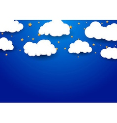 Abstract dream background with clouds vector image