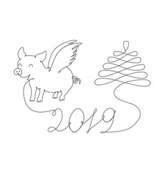 abstract new year symbol vector image