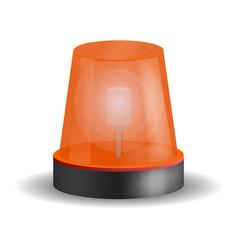 ambulance siren icon realistic style vector image