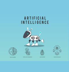 Artificial intelligence robot design vector