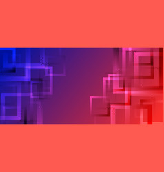 Banner web modern abstract geometric square vector