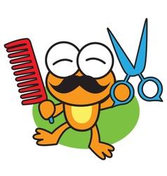 Barber Frog vector