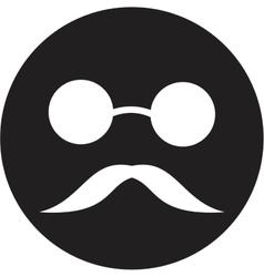 Blind man icon vector