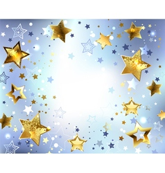 Blue Background with Gold Stars vector