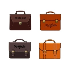 briefcase icons set vector image
