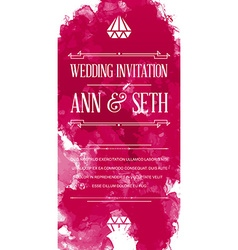 Bright colorful watercolor art style invitation vector