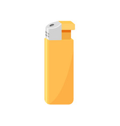 bright yellow gas lighter item related to smoking vector image