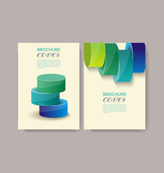 brochure cover abstract design template vector image