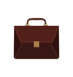 Brown business briefcase vector