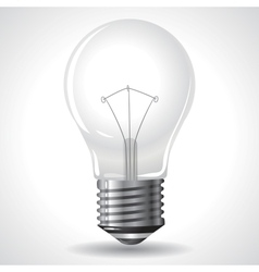 Bulb Isolated on Grey Gradient Background vector