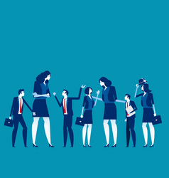 business team talk and consult concept business vector image