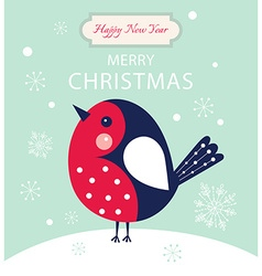 Christmas little Bird vector