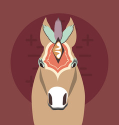 Circus horse carnival festival decorated vector