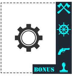 cog icon flat vector image