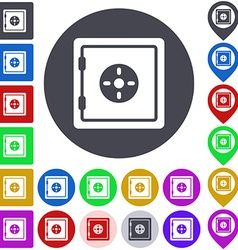 Color safe icon set vector image