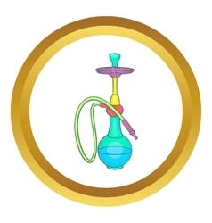Colorful smoke hookah icon vector image