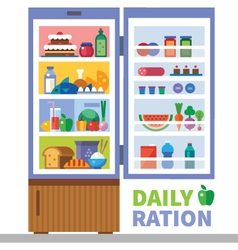 Daily ration vector image