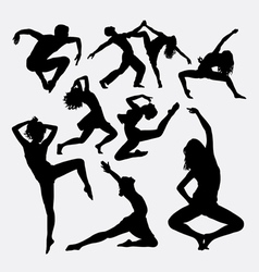Dance activity silhouette vector image