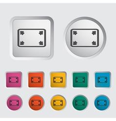 Deployment video icon vector