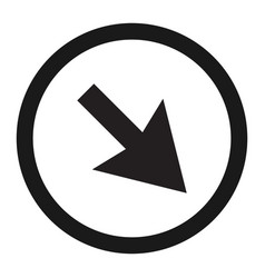 Detour to the right sign line icon vector