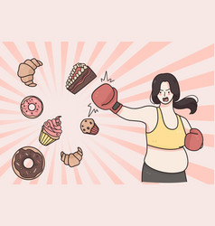 Dieting weight loss healthy lifestyle concept vector