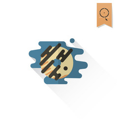 donut with chocolate glaze vector image