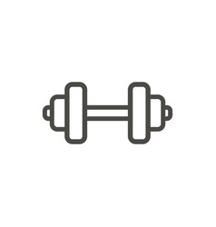 dumbbel icon line gym dumbbel symbol vector image