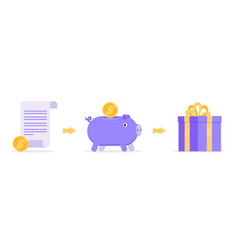Earn reward points business concept icons flat vector
