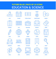 Education and science icons - futuro blue 25 icon vector