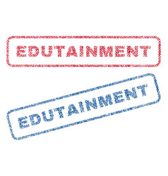 edutainment textile stamps vector image