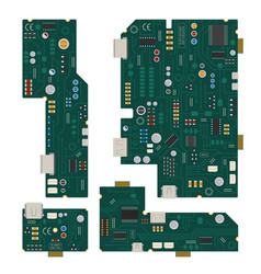 Electronic circuit computer mother board vector