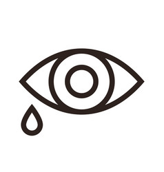 eye and tear icon vector image