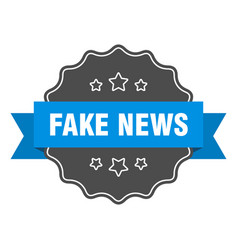 Fake news label fake news isolated seal sticker vector
