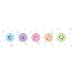 Favorite icons vector
