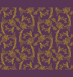 Floral swirls seamless pattern vector