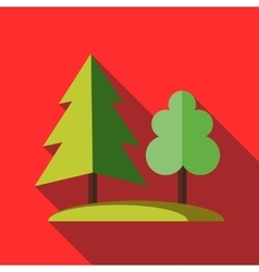 Forest tree icon in flat style vector image