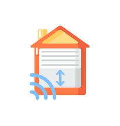 Garage door opener flat color icon vector