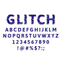 glitch damage alphabet error pixel noise abs font vector image
