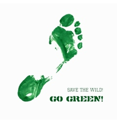 Green Foot Imprint vector image