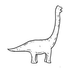 hand drawn doodle brachiosaurus vector image