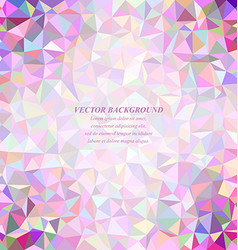 Happy colorful abstract tiled triangle background vector image