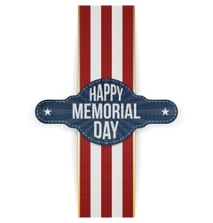 Happy Memorial Day festive Banner and Ribbon vector image
