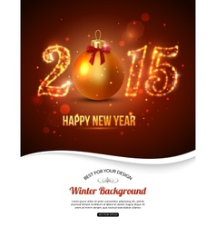 Happy New Year 2015 celebration concept with vector