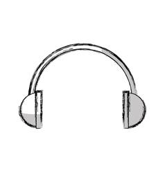 Headset audio device isolated icon vector