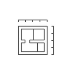 house blueprint line outline icon vector image