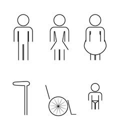 Icon toilet symbol sign vector