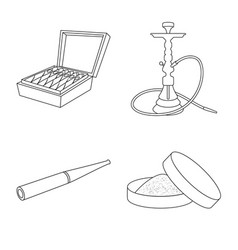 Isolated object health and nicotine icon vector